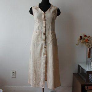 Button Up Long Summer Dress